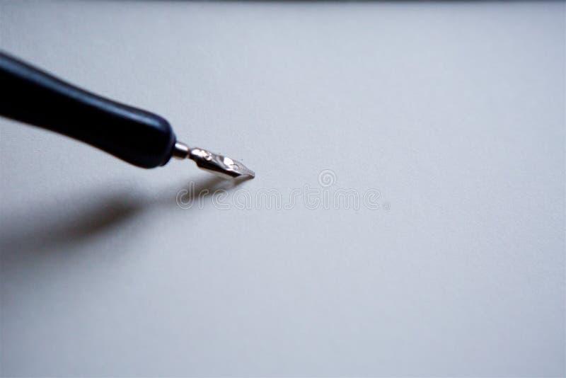Elegant tappningfjäderpenna arkivfoton