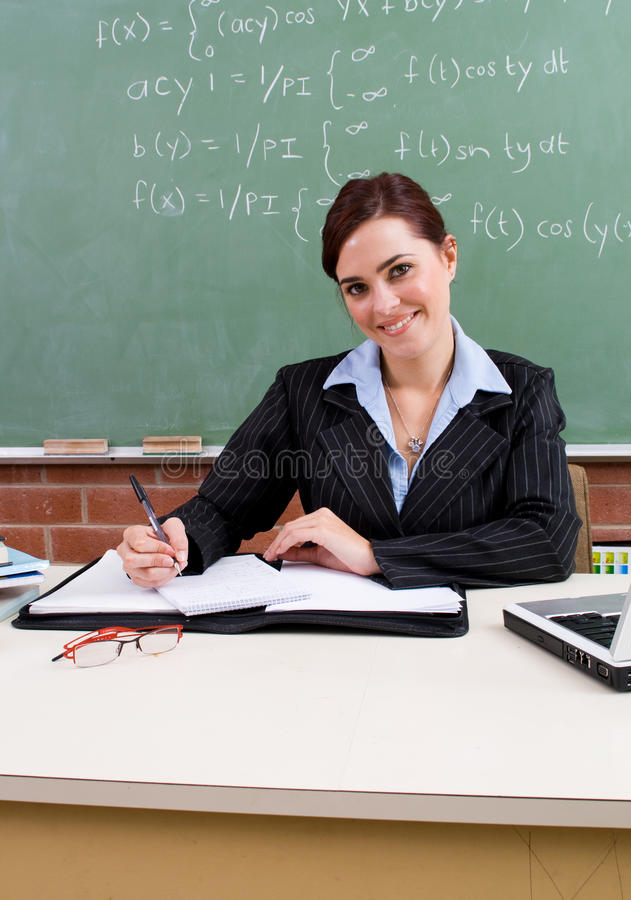 elegant teacher στοκ εικόνα