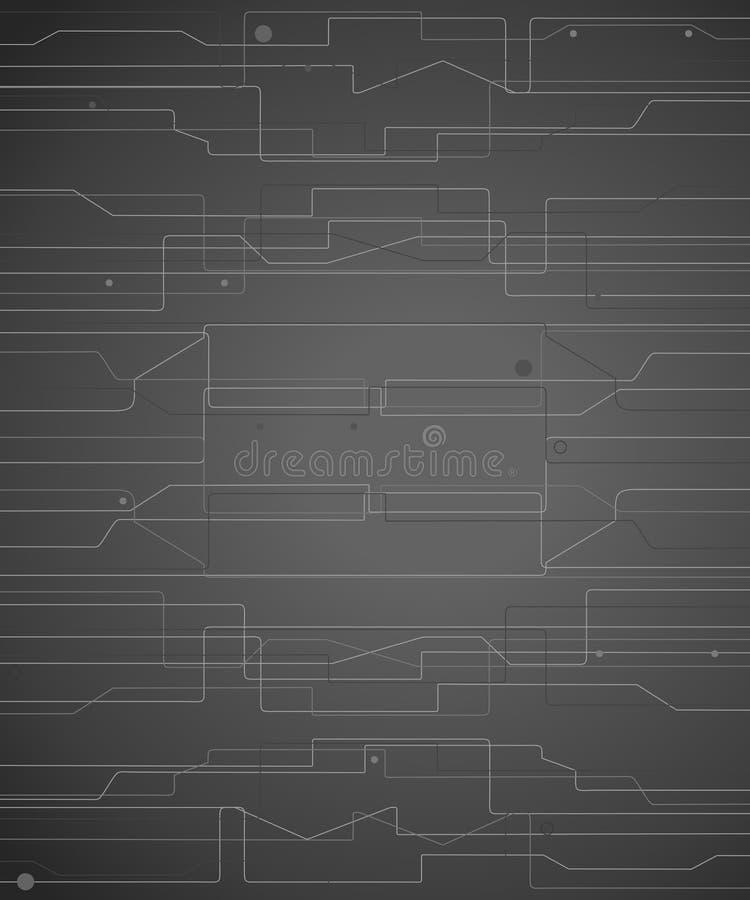 Elegant tech background royalty free illustration