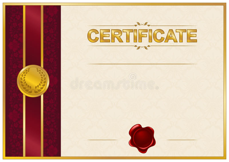 Elegant Template Of Certificate Diploma Stock Illustration