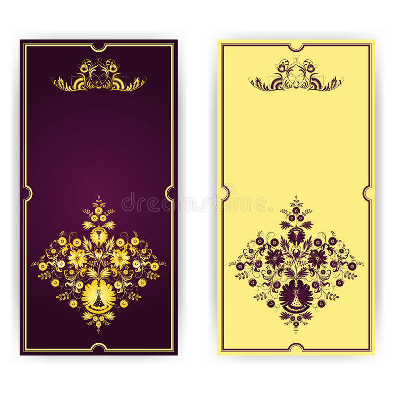 Template Greeting Card Royalty Free Stock Image: Elegant Template For Greeting Card, Invitation Royalty