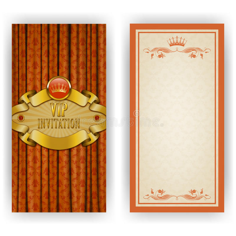 Download Elegant Template For Vip Luxury Invitation Stock Vector - Image: 40384242