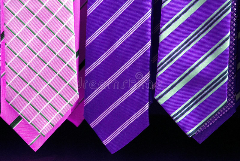 Elegant ties stock photos