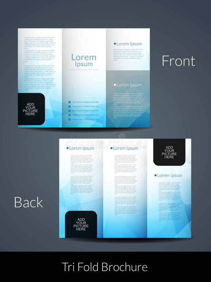 elegant brochure template - elegant tri fold brochure design template stock vector