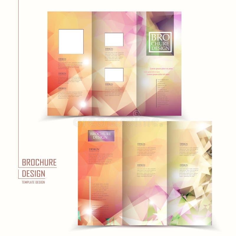 elegant brochure template - elegant tri fold brochure template design stock vector