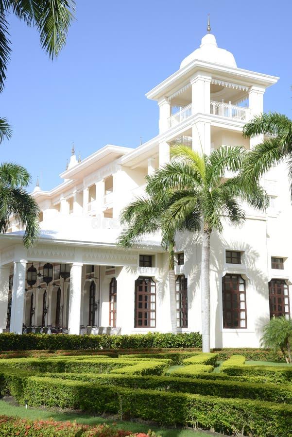 Elegant tropical resort stock images