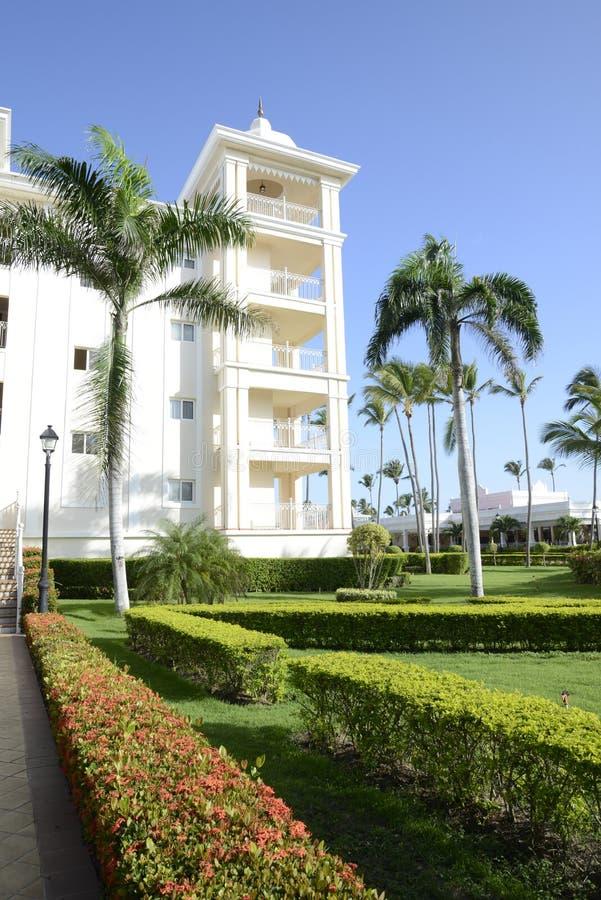 Elegant tropical resort royalty free stock photography