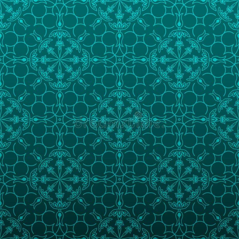 Blom- bakgrund för eleganta turquois vektor illustrationer
