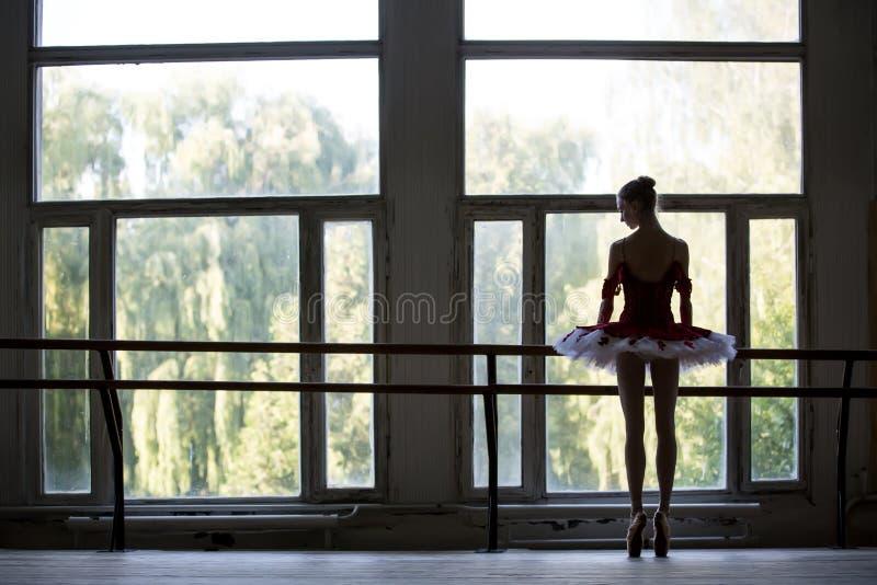 Elegant ung ballerina arkivfoton