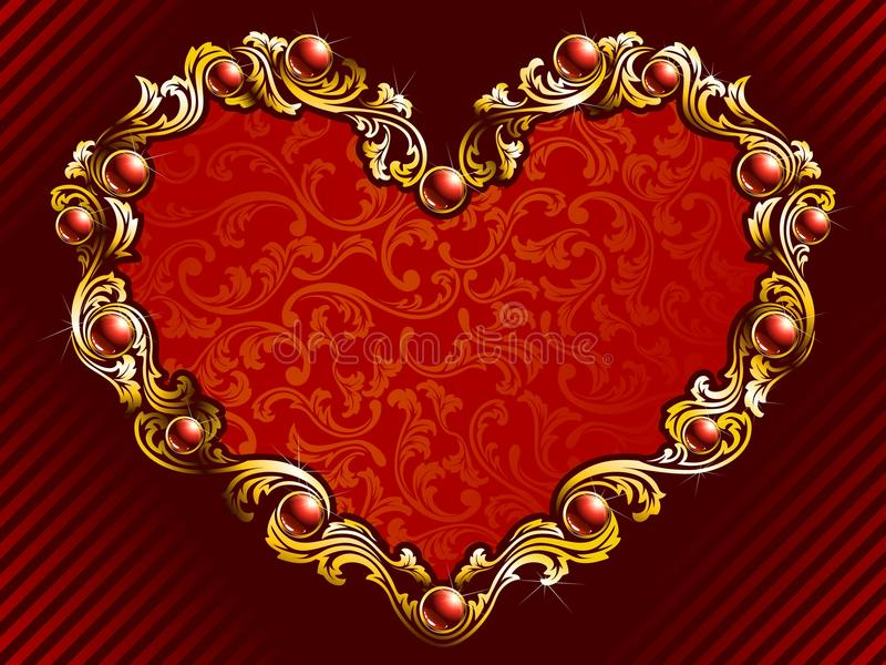 Download Elegant Valentine Background With Rubies Stock Vector - Image: 11700595