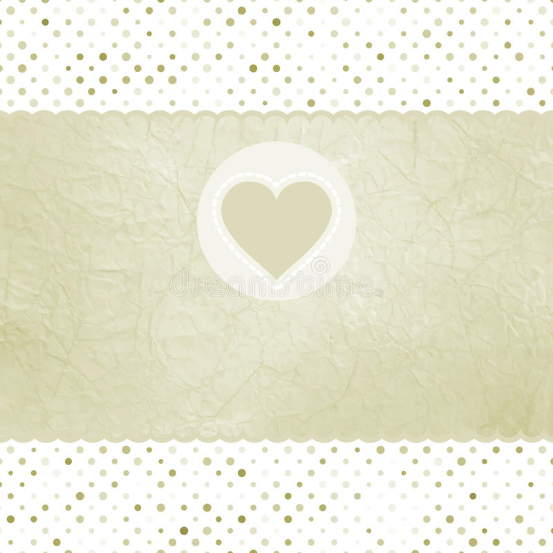 Free Elegant Valentine Card With Heart. Stock Images - 23508494
