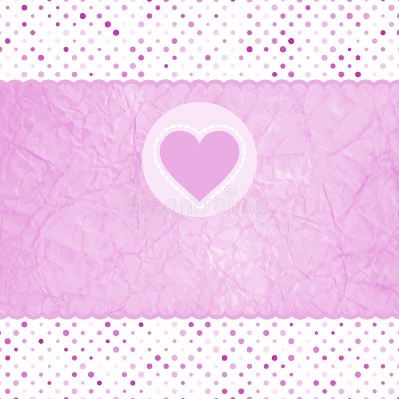 Free Elegant Valentine Card With Heart. EPS 8 Stock Image - 23529581