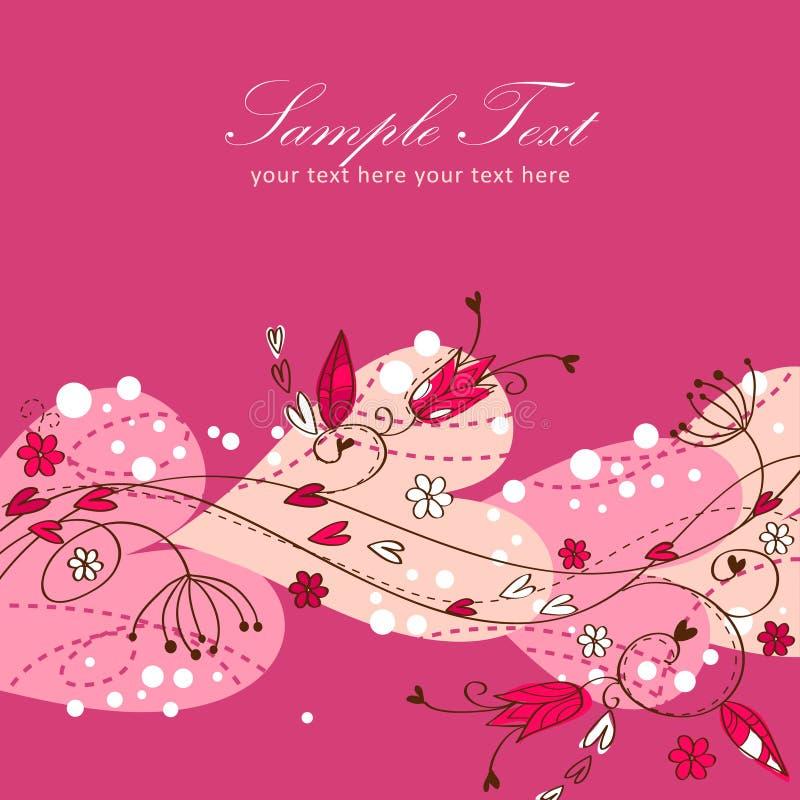 Free Elegant Valentine Love Floral Postcard Stock Photography - 22803342