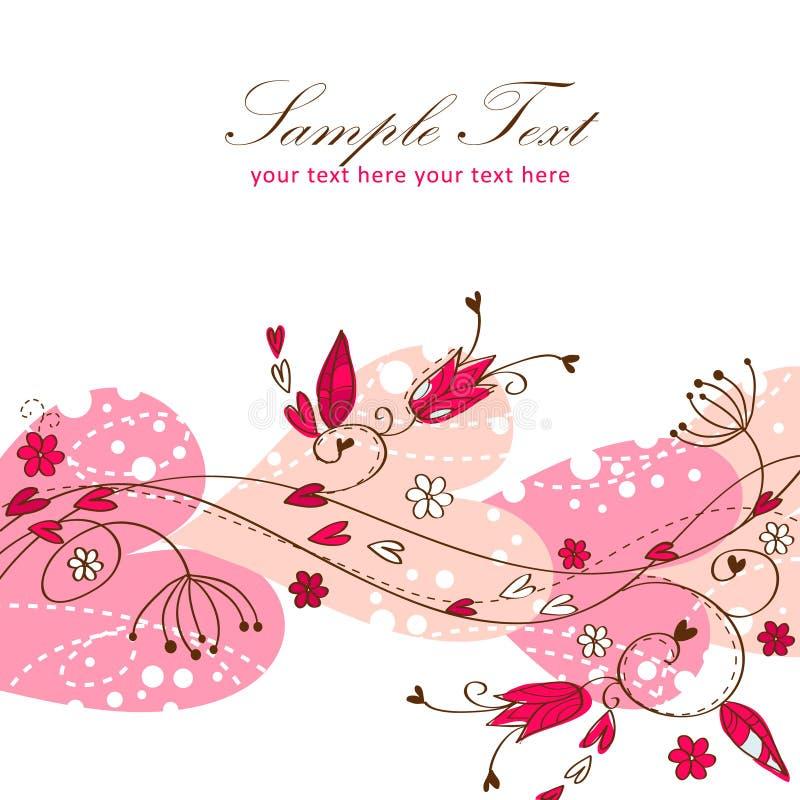 Download Elegant Valentine Love Floral Postcard Stock Vector - Illustration of floral, beautiful: 22803371