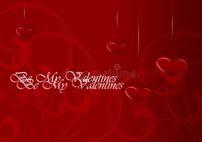 Elegant Valentine's Day Card royalty free stock images