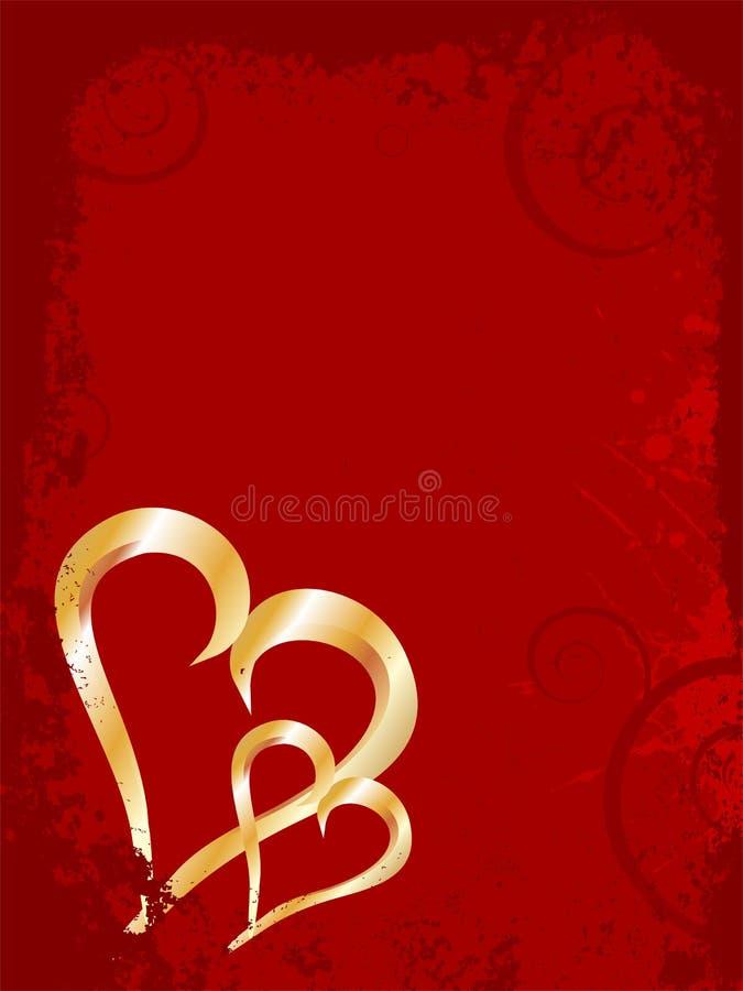 Elegant valentine`s hearts vector illustration