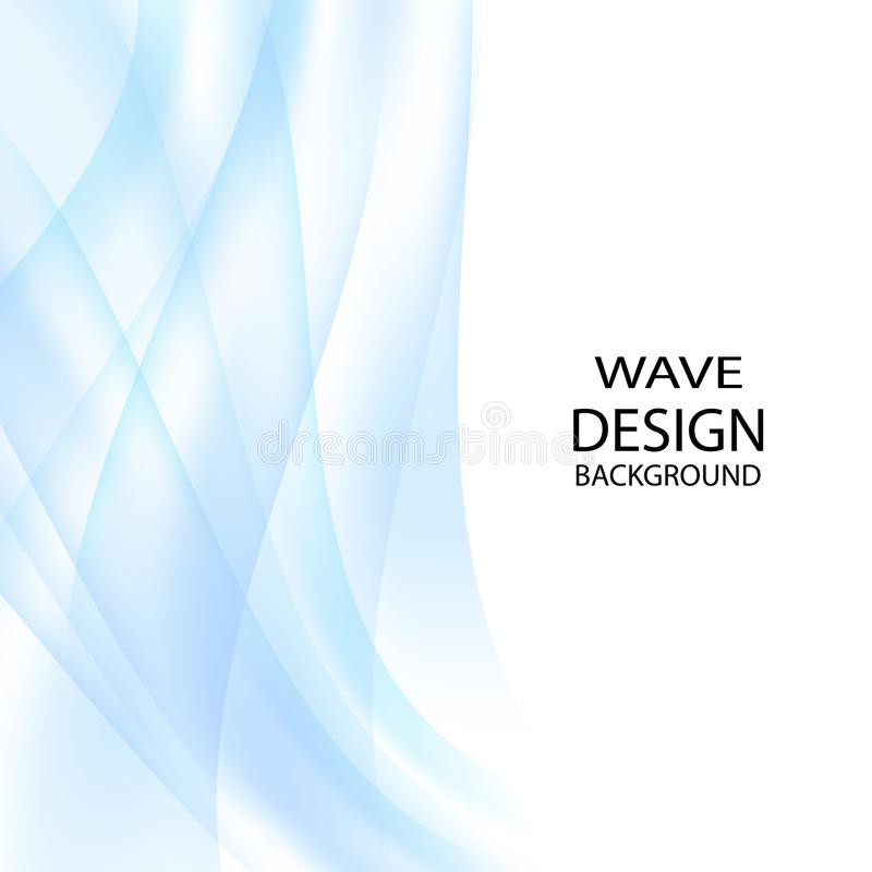 Elegant vector abstract background.Blue abstract wave background. royalty free illustration