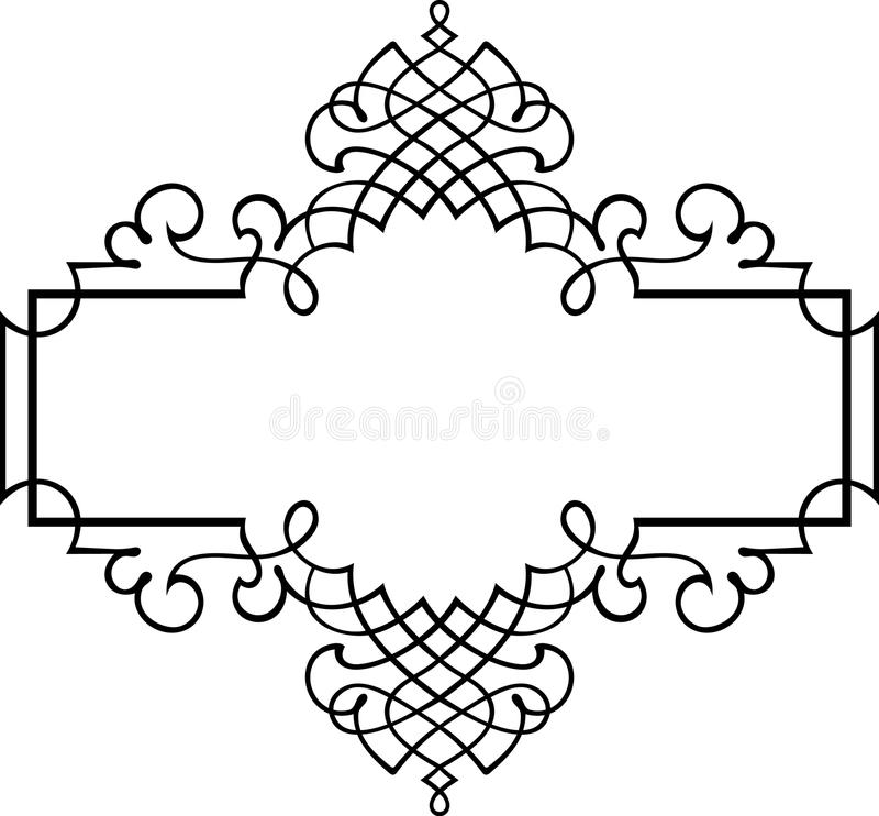 Elegant vector frame stock vector. Illustration of narrow - 15017631