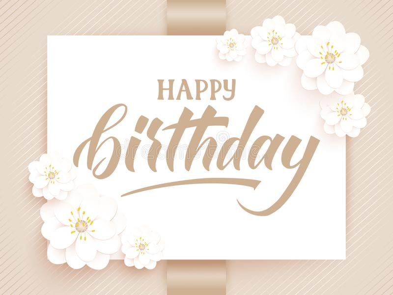 Elegant vector happy birthday card vector invitation card with download elegant vector happy birthday card vector invitation card with background and frame with flower stopboris Image collections