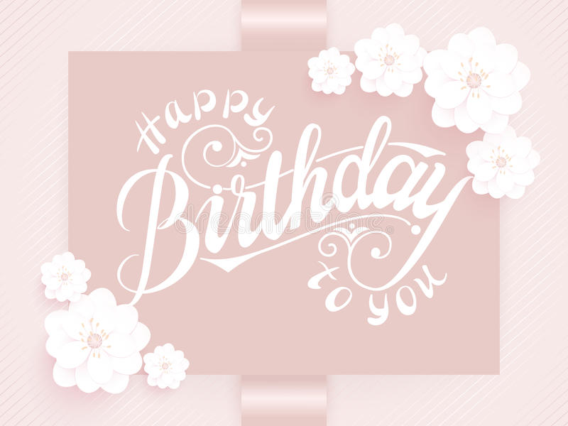 Happy Birthday Design Vector ~ Elegant vector happy birthday to you card. vector invitation card