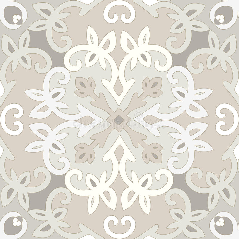 Elegant vector naadloos etnisch patroon stock illustratie