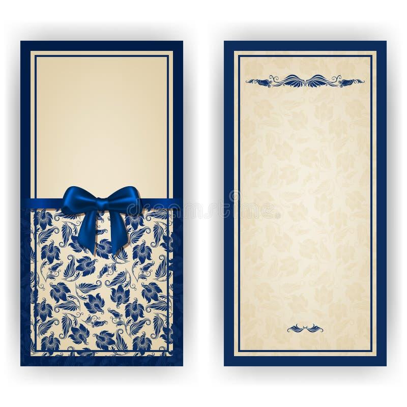Elegant vector template for luxury invitation, vector illustration