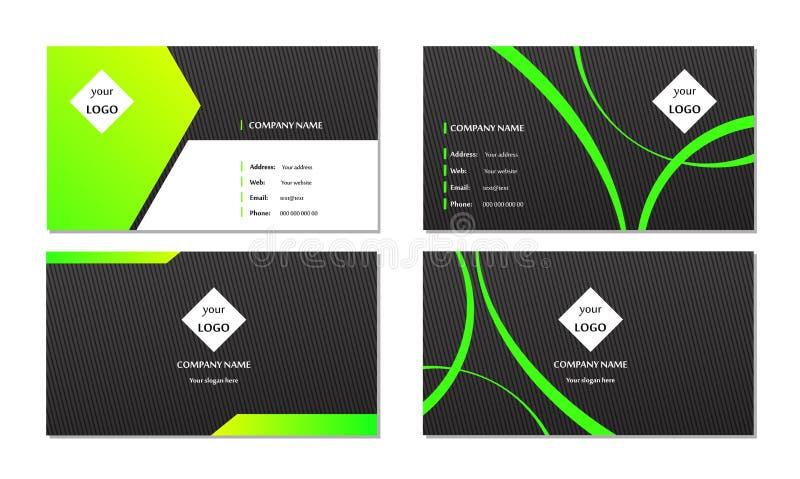 Elegant vektor för mall för affärskort royaltyfri illustrationer