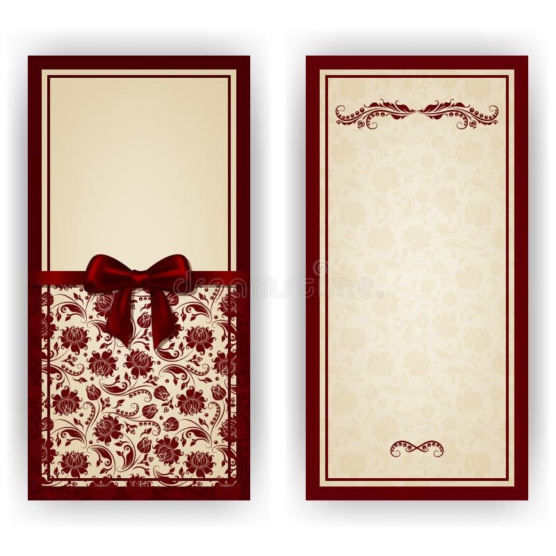 Elegant vektormall för lyxig inbjudan, royaltyfri bild