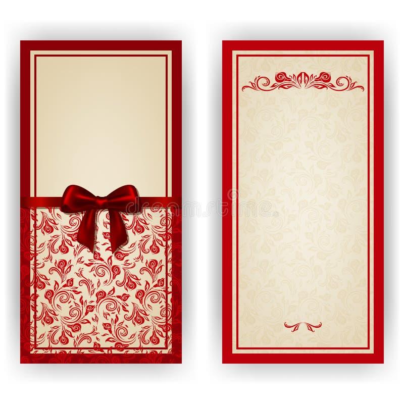 Elegant vektormall för lyxig inbjudan, royaltyfria bilder