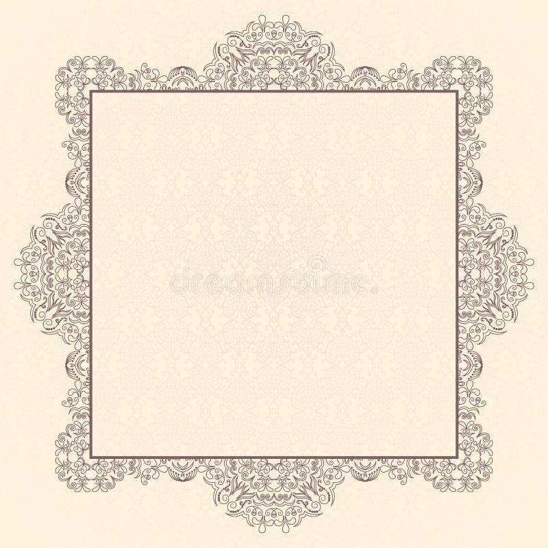 Download Elegant vintage card stock vector. Image of banner, invitation - 25449634