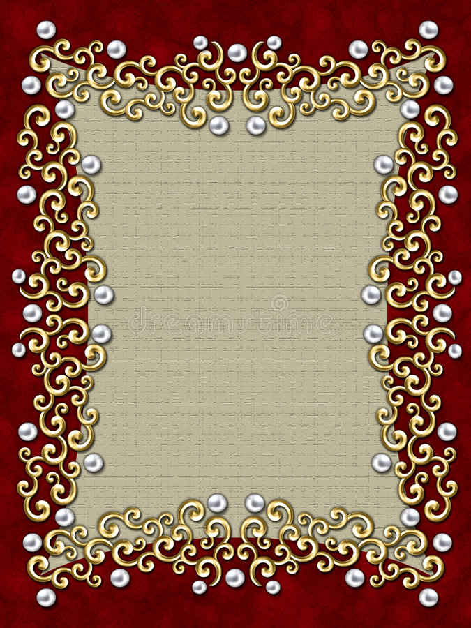 Free Elegant Vintage Swirl Frame Royalty Free Stock Photography - 2365007