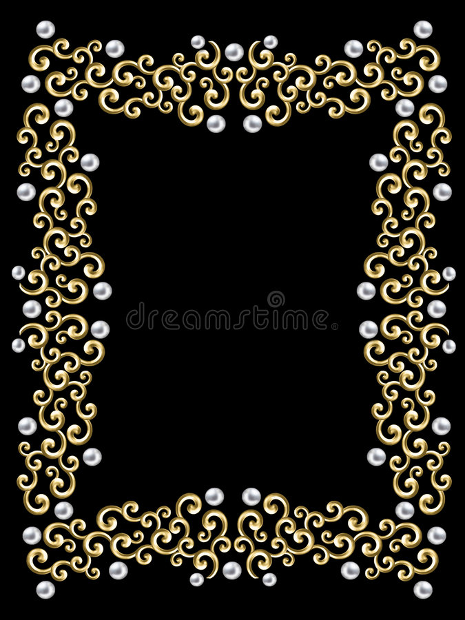 Elegant vintage Swirl Frame stock photo