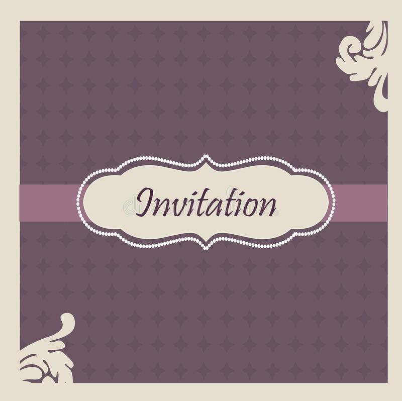 Elegant  Wedding Invitation Royalty Free Stock Photo