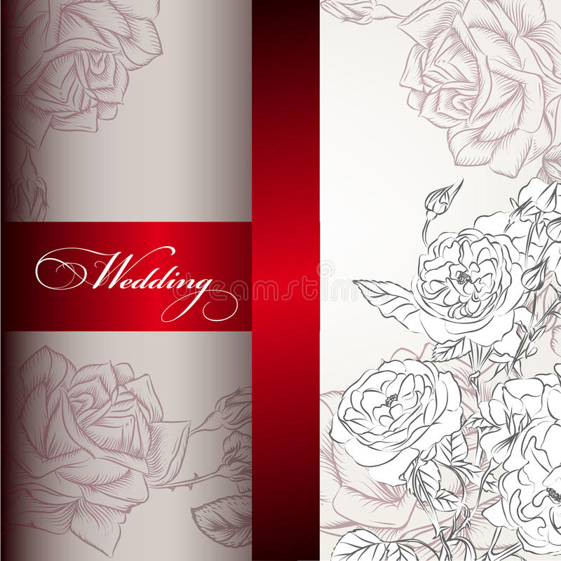 Elegant Wedding Invitation Card For Design Stock Vector ...