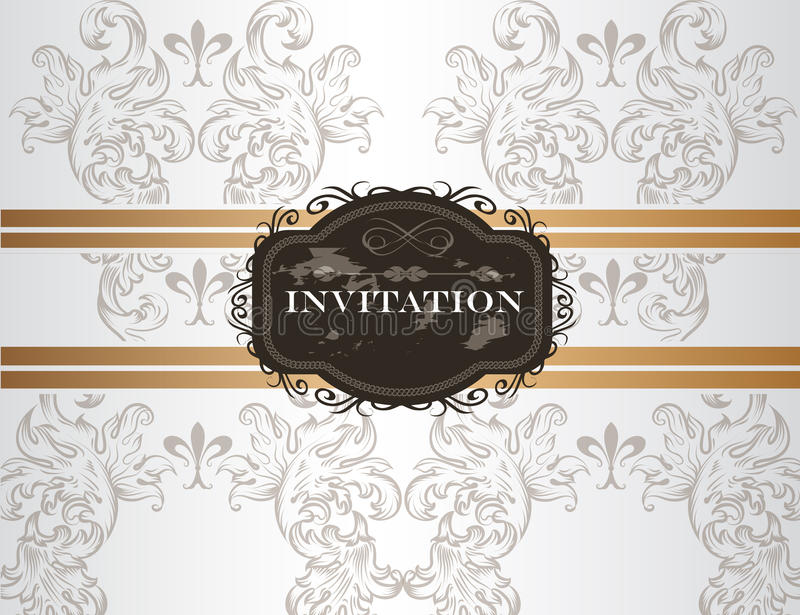 Download Elegant Wedding Invitation Card In Vintage Style Stock Vector - Image: 32100368
