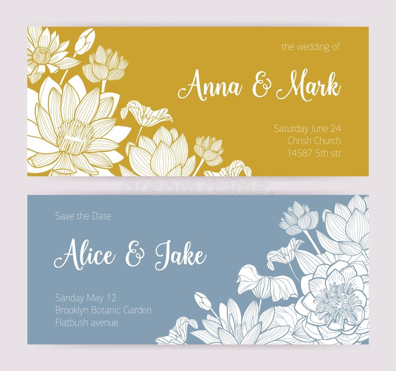 elegant wedding invitation or save the date card templates with