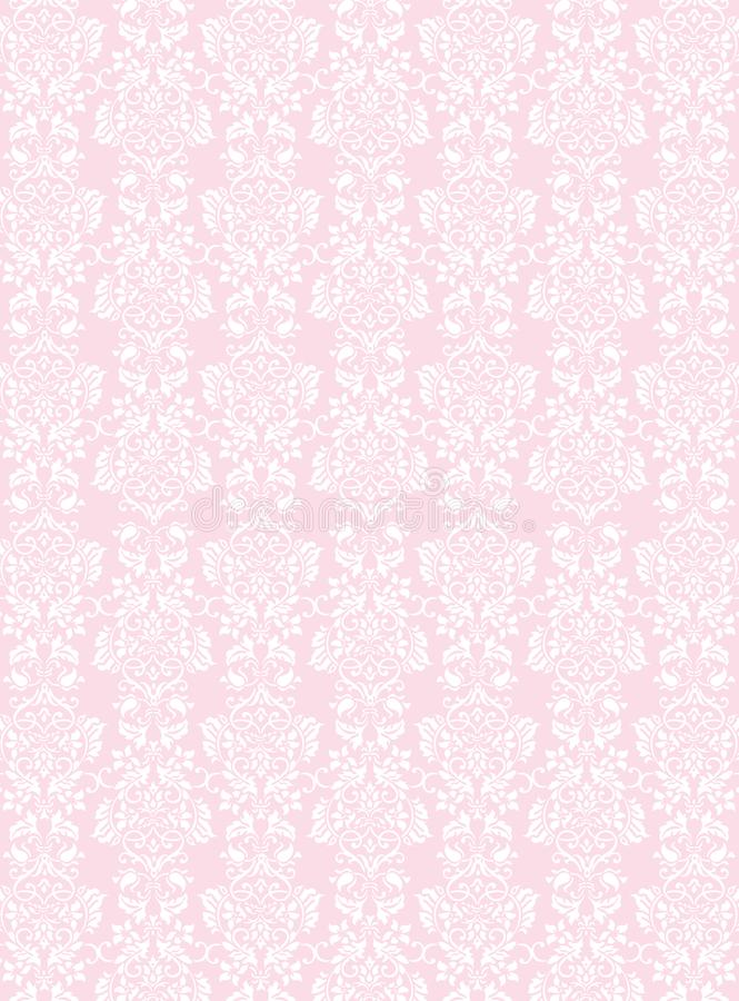 Download Elegant White Flowers Pattern Textured Pink Wallpaper Background Stock Vector