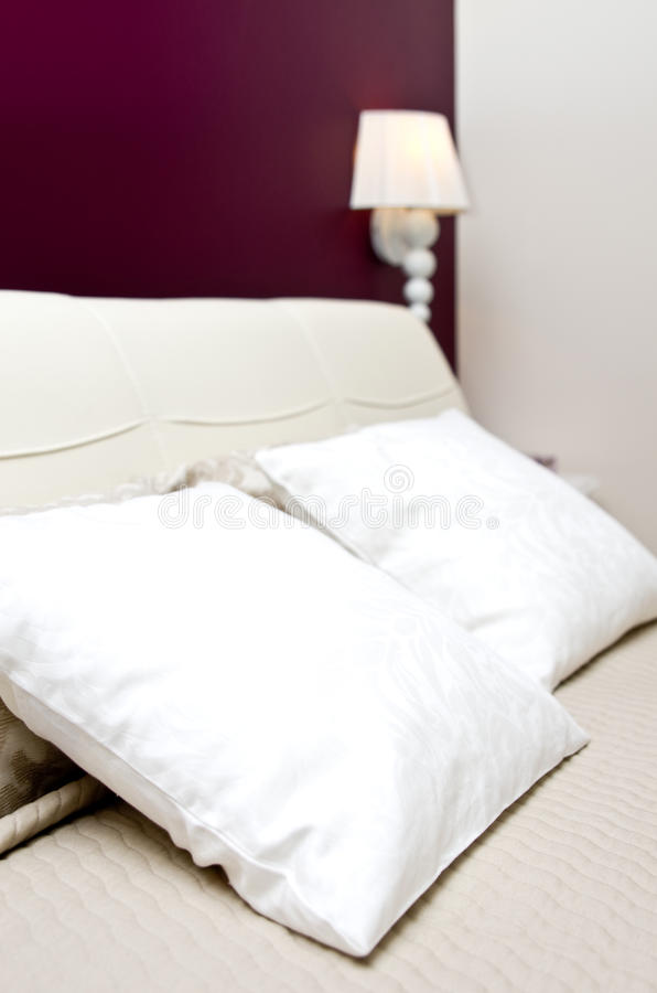 White pillows stock photography