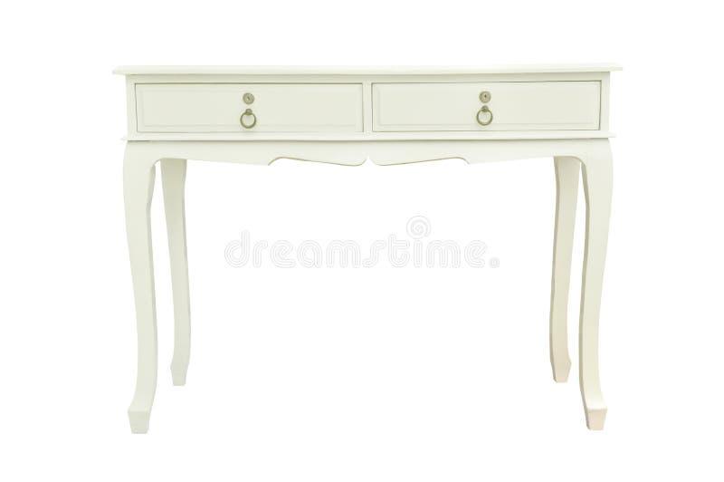 Elegant white table isolated on white
