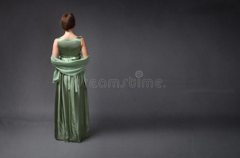Elegant woman back side royalty free stock images