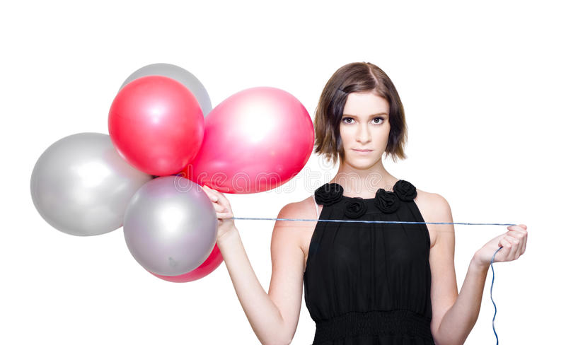 Download Elegant Woman Holding Balloons Stock Image - Image: 24640101