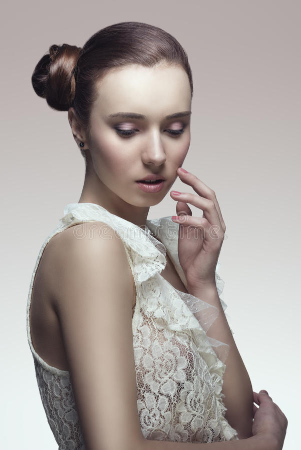Download Elegant Woman With Later Chignon Stock Photo - Image: 31262450