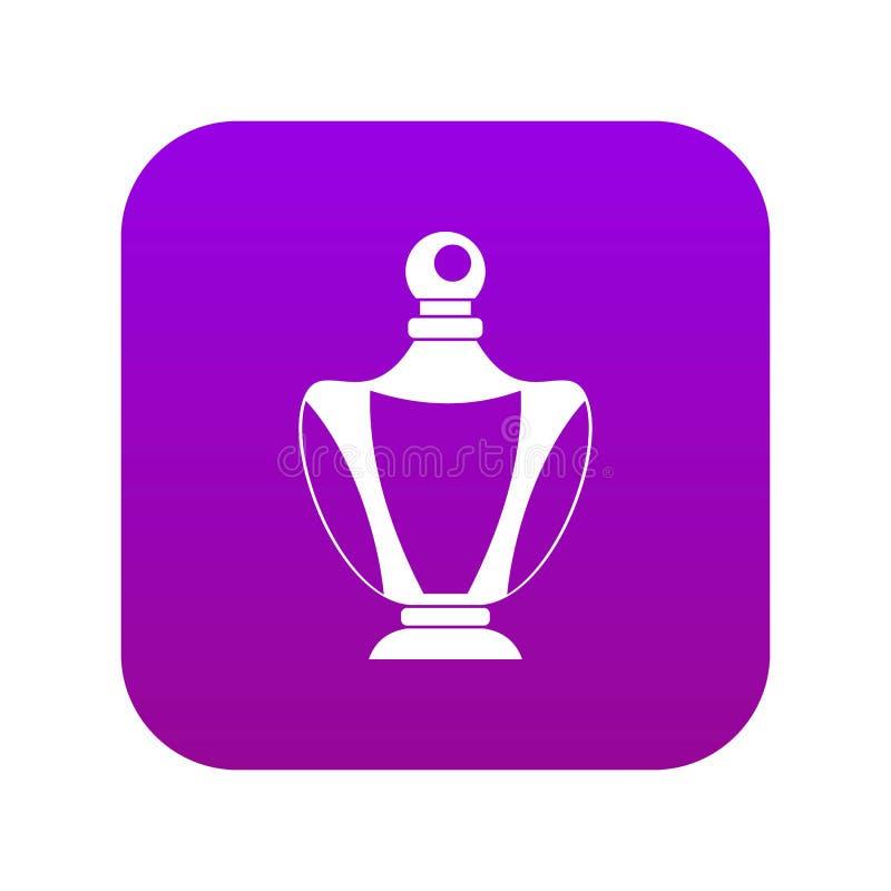 Elegant woman perfume bottle icon digital purple royalty free illustration