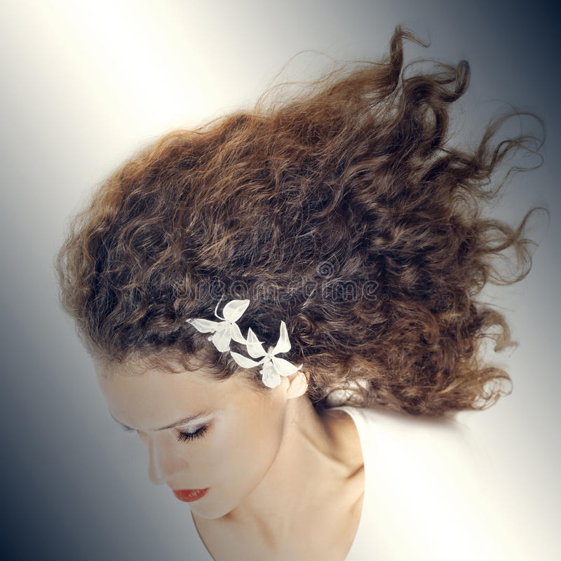 Download Elegant Woman With Curly Hair Stock Photo - Image: 29849262