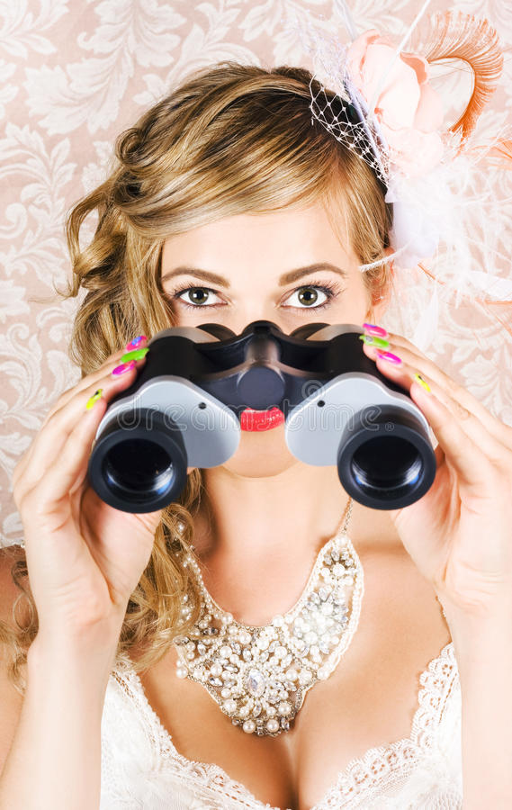 Download Elegant Woman Watching Spring Carnival Horse Races Stock Photo - Image: 26992958