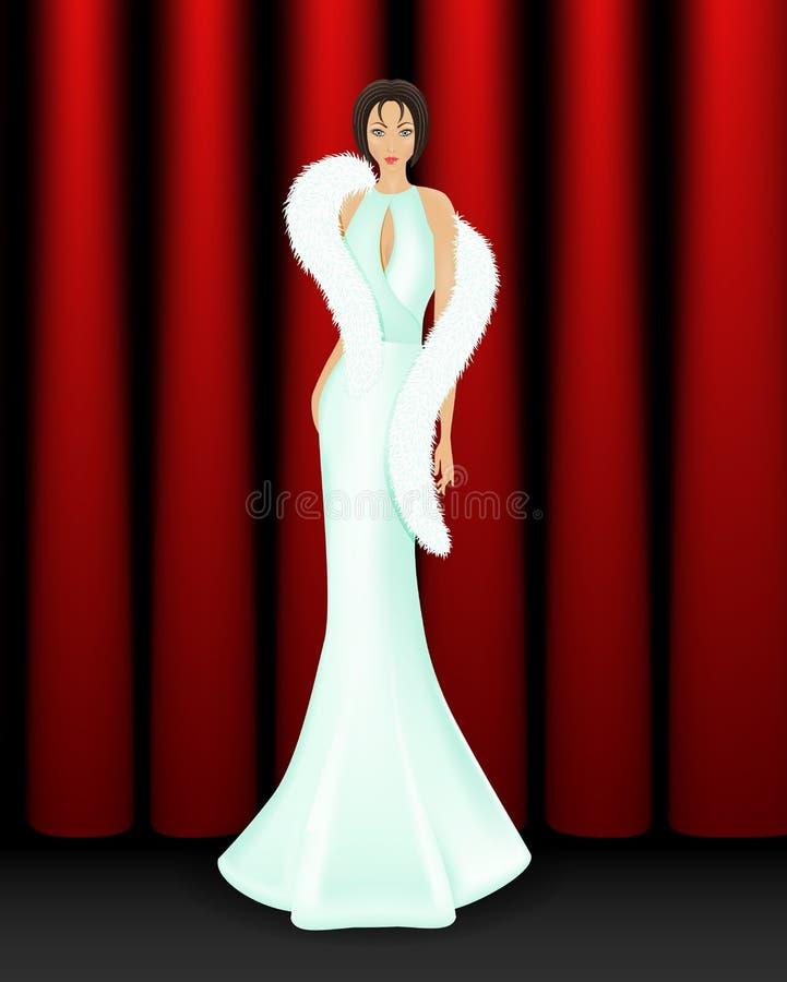 Elegant women on stage royalty free stock photos