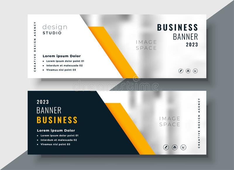 Elegant yellow professional business banner template royalty free illustration