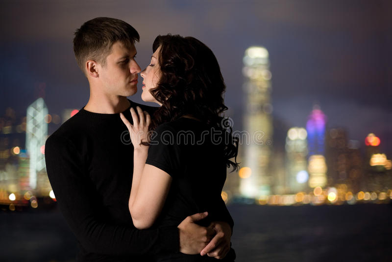 Elegant young couple royalty free stock photos
