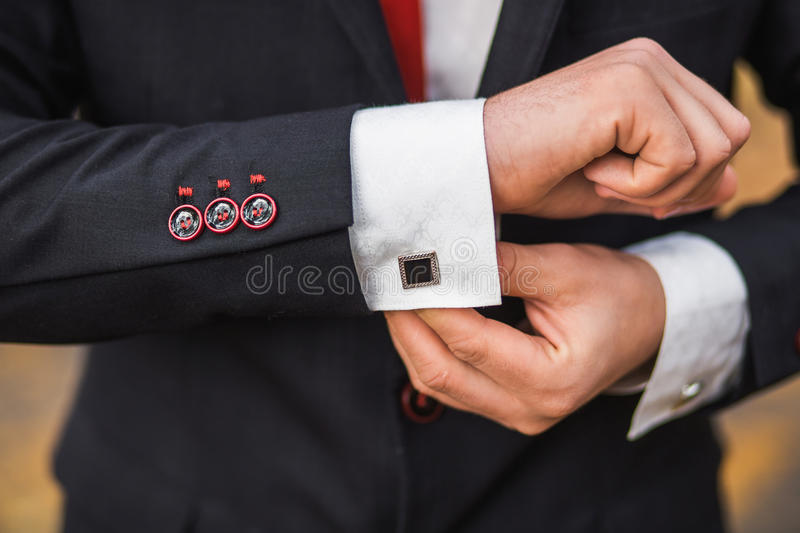 Elegant young fashion man stock image