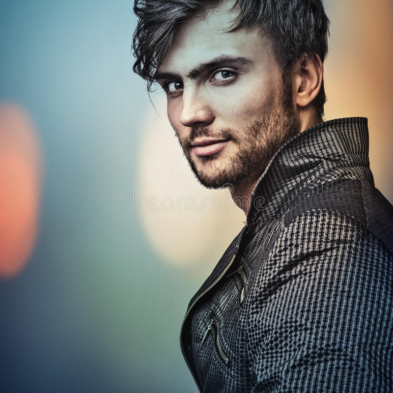 Elegant young handsome man. royalty free stock photos
